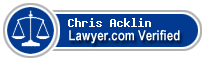 Chris Acklin  Lawyer Badge