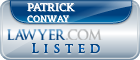 Patrick Conway Lawyer Badge