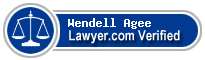 Wendell S. Agee  Lawyer Badge