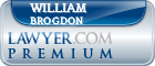 William F. Brogdon  Lawyer Badge