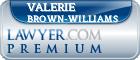 Valerie Brown-Williams  Lawyer Badge