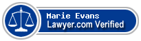 Marie K. Evans  Lawyer Badge