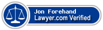 Jon Vincent Forehand  Lawyer Badge