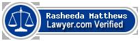 Rasheeda Niambi Matthews  Lawyer Badge