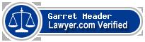 Garret Warrington Meader  Lawyer Badge