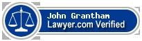 John Winston Grantham  Lawyer Badge