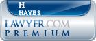 H. Daniel Hayes  Lawyer Badge