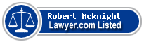 Robert Mcknight Lawyer Badge