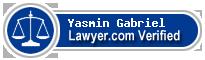 Yasmin Jeannine Gabriel  Lawyer Badge