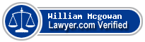 William Keith Mcgowan  Lawyer Badge