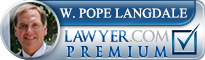 W. Pope Langdale  Lawyer Badge
