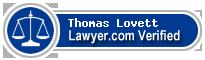 Thomas Dozier Lovett  Lawyer Badge