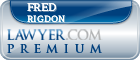 Fred W. Rigdon  Lawyer Badge