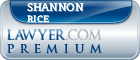 Shannon L. Rice  Lawyer Badge