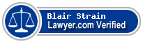 Blair C. Strain  Lawyer Badge