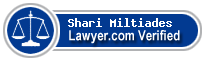 Shari Sigman Miltiades  Lawyer Badge