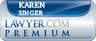 Karen Bender Singer  Lawyer Badge