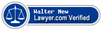 Walter H. New  Lawyer Badge
