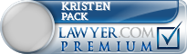 Kristen Wright Pack  Lawyer Badge