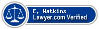 E. Brian Watkins  Lawyer Badge