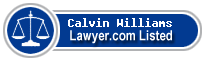 Calvin Williams Lawyer Badge