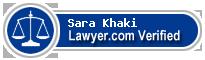 Sara Gharib Khaki  Lawyer Badge