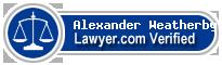 Alexander Dewitt Weatherby  Lawyer Badge