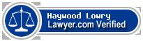 Haywood Scott Lowry  Lawyer Badge