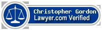 Christopher Cary Gordon  Lawyer Badge