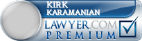 Kirk E. Karamanian  Lawyer Badge