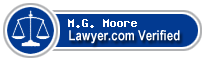 M.G. Moore  Lawyer Badge