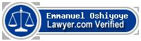 Emmanuel Adekunle Oshiyoye  Lawyer Badge