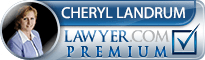 Cheryl Lorraine Landrum  Lawyer Badge