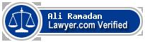 Ali Stephen Ramadan  Lawyer Badge