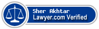 Sher M. Akhtar  Lawyer Badge