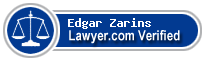 Edgar A. Zarins  Lawyer Badge
