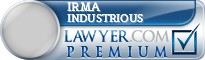 Irma E. Industrious  Lawyer Badge