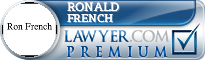Ronald D. French  Lawyer Badge