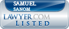 Samuel Sanom Lawyer Badge