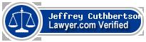 Jeffrey Thomas Cuthbertson  Lawyer Badge