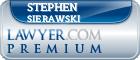 Stephen S Sierawski  Lawyer Badge