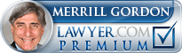 Merrill H. Gordon  Lawyer Badge