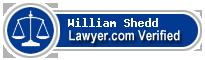 William C. Shedd  Lawyer Badge