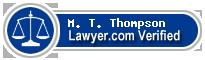 M. T. Thompson  Lawyer Badge