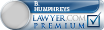 B. J. Humphreys  Lawyer Badge