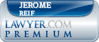 Jerome P. Reif  Lawyer Badge