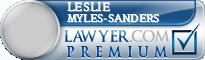 Leslie Myles-Sanders  Lawyer Badge