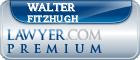 Walter P. Fitzhugh  Lawyer Badge