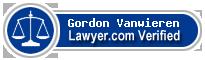 Gordon W. Vanwieren  Lawyer Badge