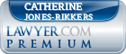 Catherine Jones-Rikkers  Lawyer Badge